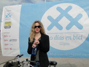 Christina Rosenvinge en el photocall de 30o dias en bici gijon