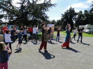 actuacion de la asociacion asturiana de danzas orientales gijon