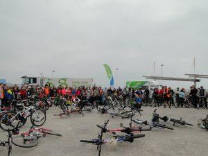 punto de encuentro de la segunda bicicletada medioambiental de 30 dias en bici gijon
