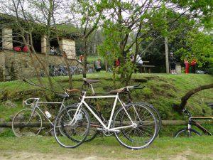 En el parque de la II Bicicletada