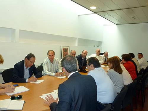 Foto de la Tercera reunión del Grupo Interparlamentario por la Bicicleta