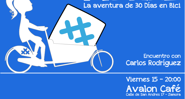 Cartel del encuentro de 30 Días en Bici en Avalon Café - 2016
