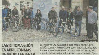 noticia 30DEB 2015 - 30 Días en Bici Gijón