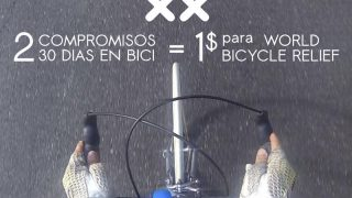 2 compromisos son 1 dolar para World Bicycle Relief - 30 Días en Bici