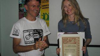 Nuestra amiga Christina Rosenvinge también fue galardonada por ConBici - 30 Días en Bici 2016