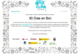 diploma 30deb #porelclima - 30 Días en Bici
