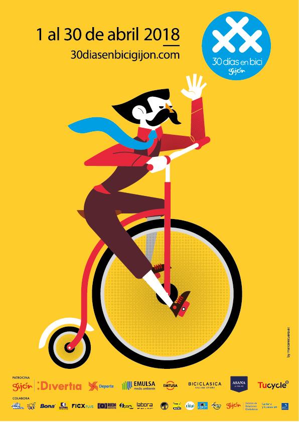Cartel - Programa 2018 Gijón 30 Días en Bici
