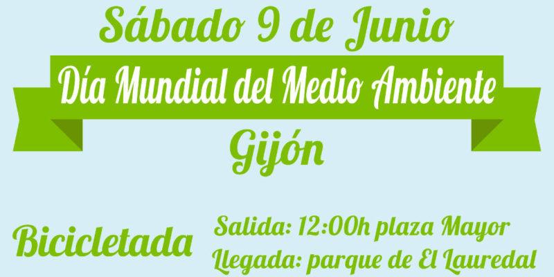 Banner Bicicletada Día Mundial del Medio Ambiente en Gijón - 30 Días en Bici