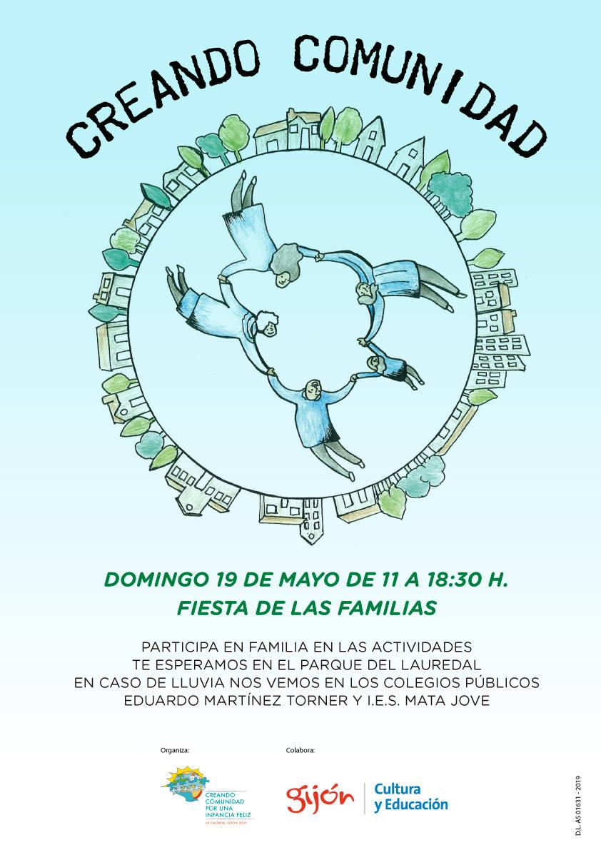 Cartel Creando Comunidad 2019 - 30 Días en Bici Gijón
