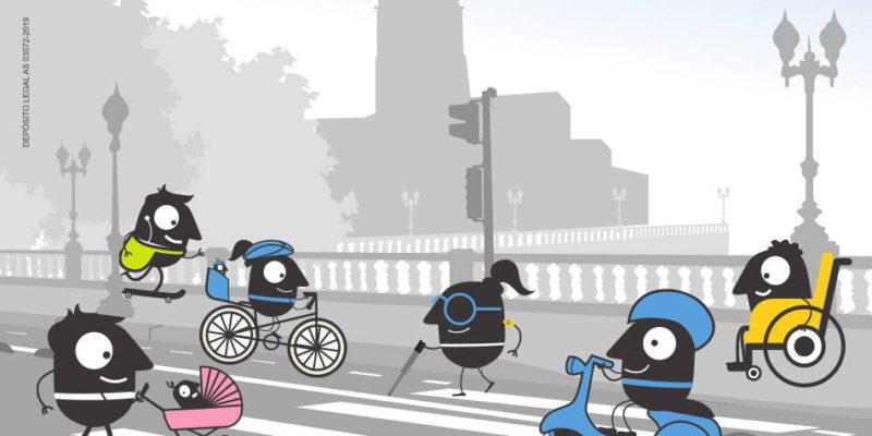 Poster de Semana Europea de la movilidad 2019 - 30 días en Bici Gijón