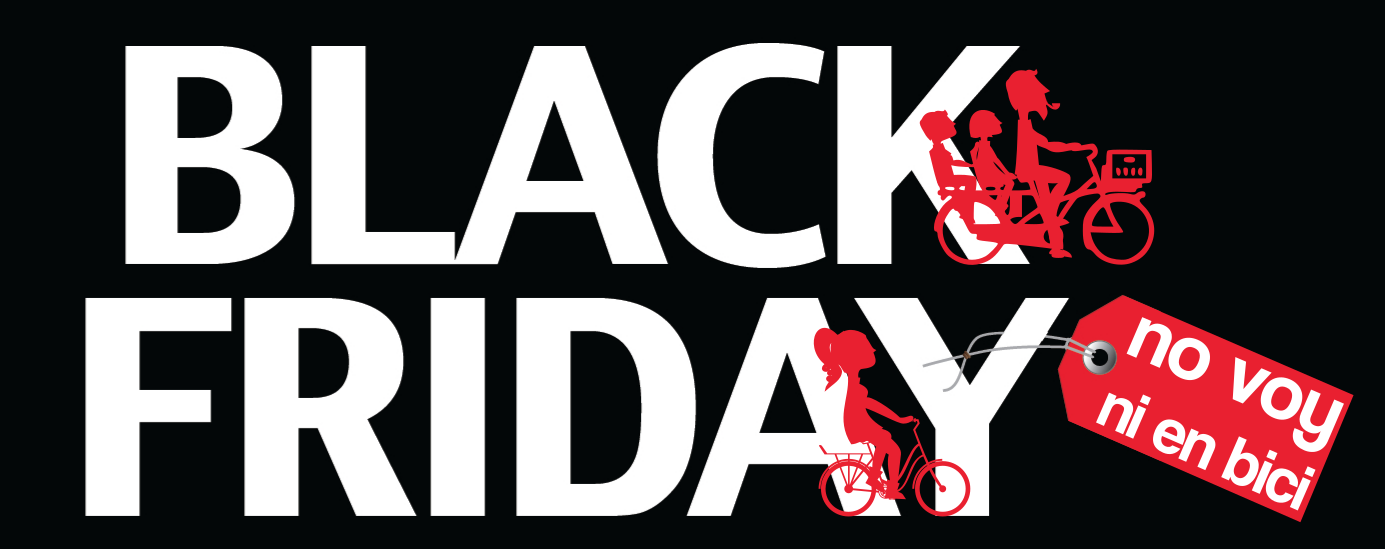 Cartel anti-black friday - 30 Días en Bici