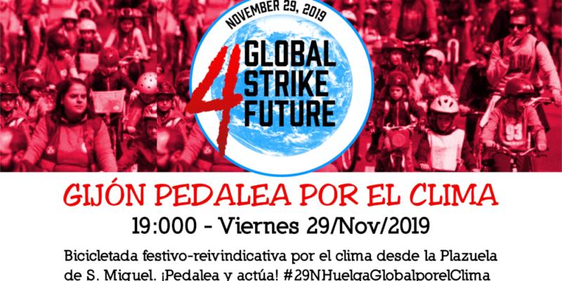 Convocatoria 9N Bicicletada por el Clima en Gijón. Huelga Mundial por el Clima - 30 Días en Bici