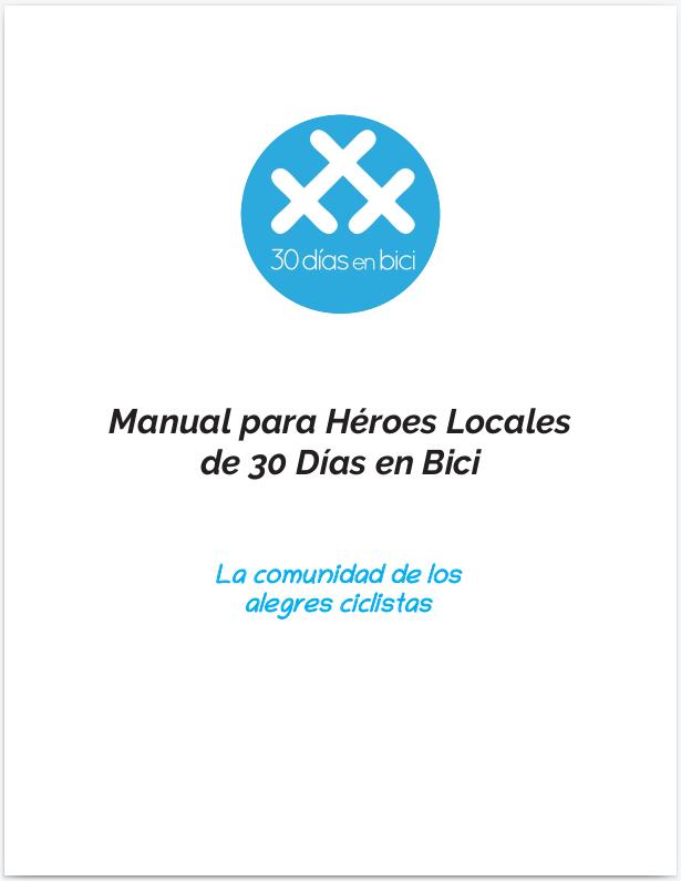 """Portada del nuevo """"Manual para Héroes Locales de 30DEB"""" - 30 Días en Bici"""