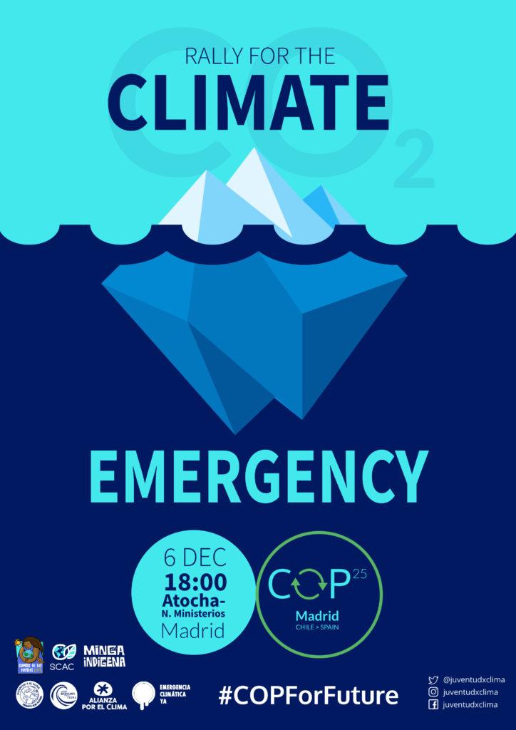 cartel de la Manifestación 6D cumbre social clima - 30 Días en Bici